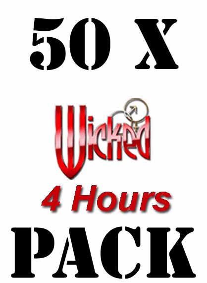 Gdn Packs 50xwicked 4hours